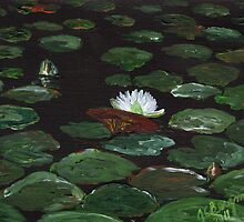 Lake of Lily Pads by Judy Bergmann
