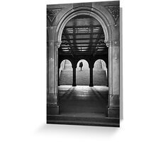 Bethesda Underpass at Central Park, New York City Greeting Card