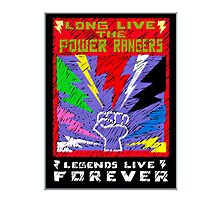 Long Live the Power Rangers Photographic Print