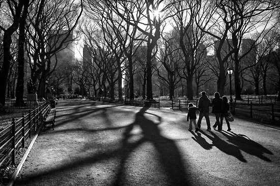 Family at The Central Park, New York City by Ilker Goksen