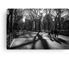 Family at The Central Park, New York City Canvas Print
