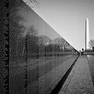 The Vietnam Veterans Memorial, Washington DC by Ilker Goksen