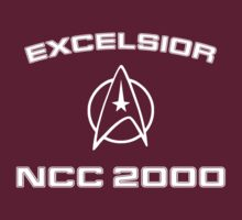 Star Trek Wrath Of Khan Style Excelsior Tee by Buleste