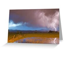 Lightning Striking Longs Peak Foothills 7 Greeting Card