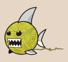 Yarn shark (yellow) by sharkandfriends
