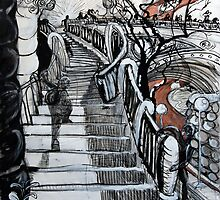 Stairs to Flinders Street (Ascending) by Richard McLean