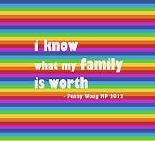 Penny Wong rainbow sticker by offpeaktraveler