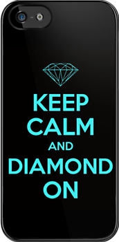 Keep Calm Diamond Case (Inverse Colors) by 99TH