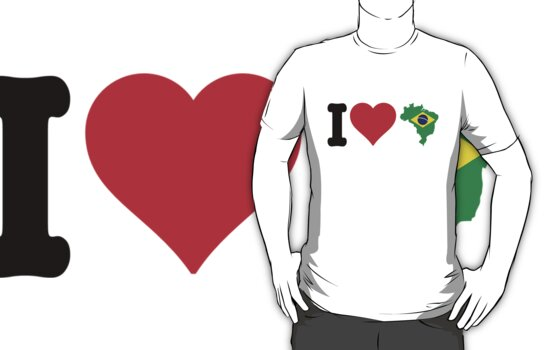 I Heart Brazil by CreativoDesign