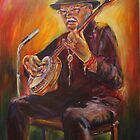 Banjo Busker by christine purtle