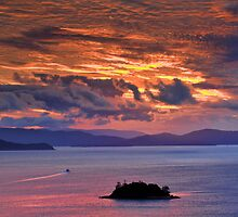 Sunset over the Coral Sea by Jill Fisher