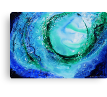 The power of the ocean Canvas Print