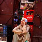 Local shopkeeper in Marrakech by jbobo