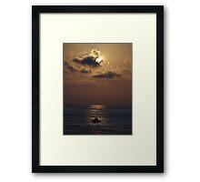 Mystical Sunset I - Misteriosa Puesta Del Sol Framed Print