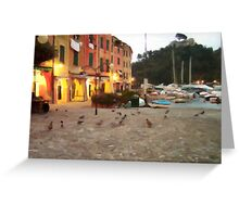 Portofino Nigth Greeting Card
