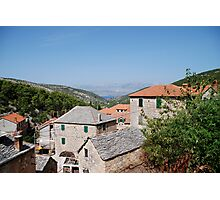 croatia village Photographic Print