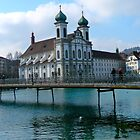 Jesuit Church in Lucerne by panicmoon08