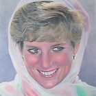 Princess Diana Portrait by Samantha Norbury