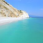 Skiathos Island, Greece - Lalaria Beach and Limestone Cliffs by Honor Kyne