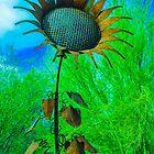 Metal Sunflower Art Sculpture  by msqrd2