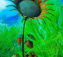 Metal Sunflower Art Sculpture  by msqrd2