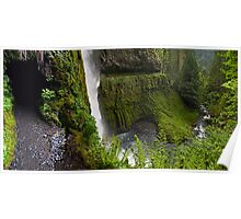 Behind the Waterfall - Mt. Hood N. F. Poster