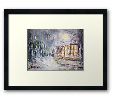 NIGHT IN THE SUBURBS  Framed Print