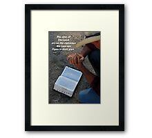 The eyes of the Lord Framed Print