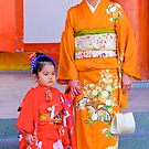 Traditional Japanese Dress, Family Day, Meiji Palace, Kyoto. by johnrf