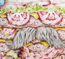 If Bill Murray was a Triple Bacon Cheeseburger Sticker
