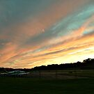 Sunset Clouds Over the Runway, Caldwell Airport, Fairfield NJ by Jane Neill-Hancock