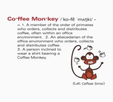 Coffee Monkey - Definition - Sticker by fridley