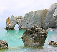 Lalaria Beach Arch and Rocks by Honor Kyne