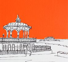 Brighton Bandstand & Pier ( Orange ) by Adam Regester