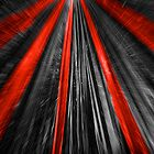 Red & Black Abstract by elainemarie999