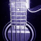 Blue Bass Guitar by julesngems