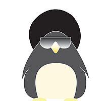 Afro Penguin  Photographic Print