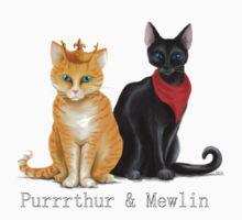 Purrrthur & Mewlin by obiskus