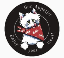 Cat Bon Appetit! Gourmet Pet Foods Product Stickers {Black} by offleashart
