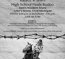 Michigan High School Rodeo Poster by J.D. Bowman