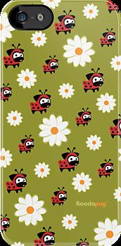 Lady Pug Pattern i-Phone and i-Pod Cases by boodapug