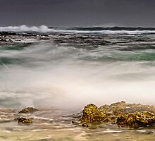 Trannies Beach Awash by Karen Willshaw