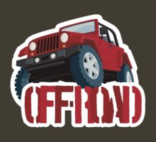 Red 4X4 off-road Jeep by Robin Lund