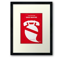 No104 My Ghost busters minimal movie poster Framed Print