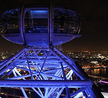 London Eye High in the Night Sky by Jane McDougall