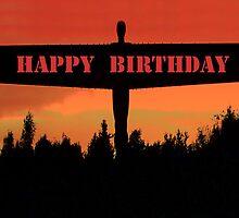 Happy Birthday, Angel of the north by CardZone By Ian Jeffrey