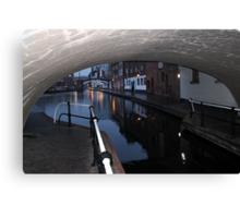 Under the Canal Bridge, Birmingham Canvas Print