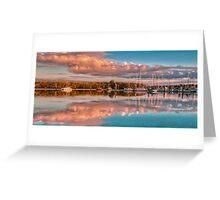 Marina Sunset Queensland Australia Greeting Card