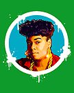 """Hip-Hop Icons: Roxanne Shanté (BLU/GRN)"" by S DOT SLAUGHTER"