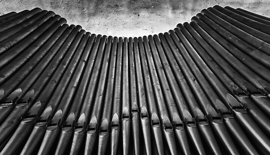 Pipes B/W by Adam Northam